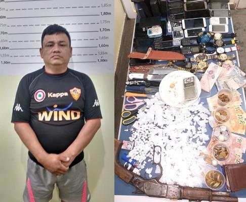 Polícia prende homem que comandava o tráfico de drogas em Urucará