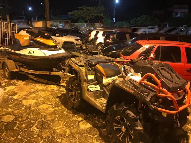 Quadrilha é presa em Santarém por roubo de carro, jet ski, e quadriciclos