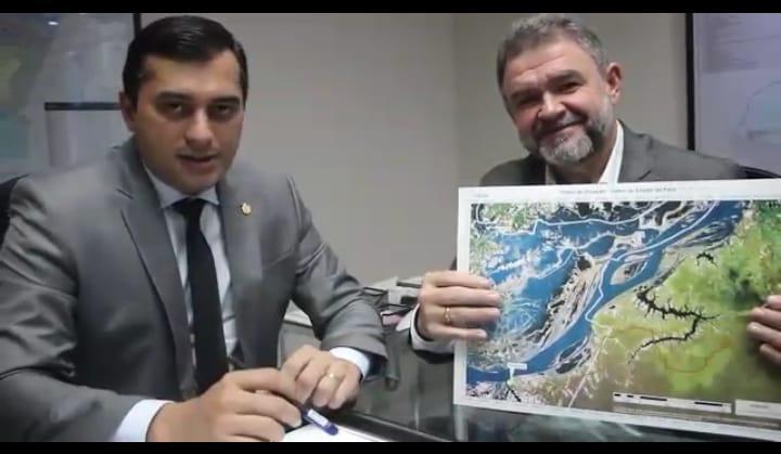 Deputado do PA e governador do AM discutem asfaltamento de estrada Juruti/Parintins