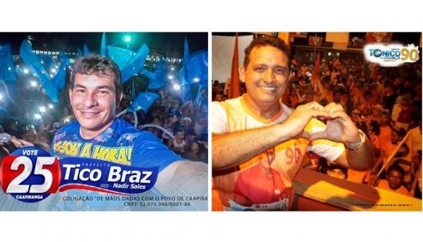 Caapiranga vota hoje (07) entre Tico Braz e Tonico Queiroz para eleger novo prefeito