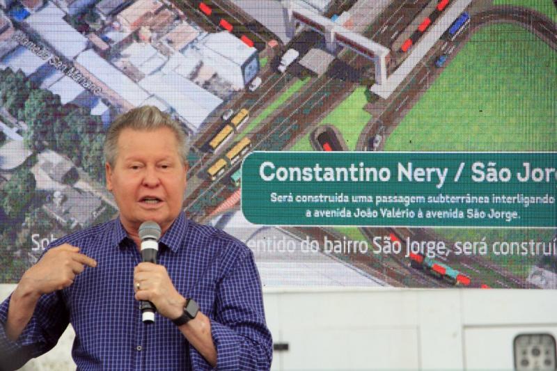 Arthur Neto lança obra do novo sistema viário da Constantino Nery