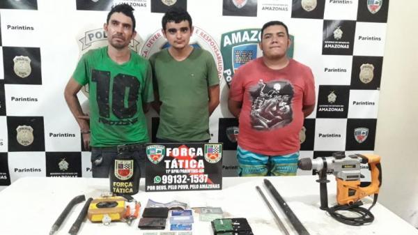 Polícia prende quadrilha que roubou R$ 150 mil do BASA em Parintins