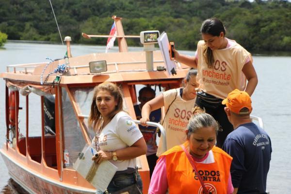 Operação 'SOS Enchente' identifica mais de duas mil famílias, em Manaus