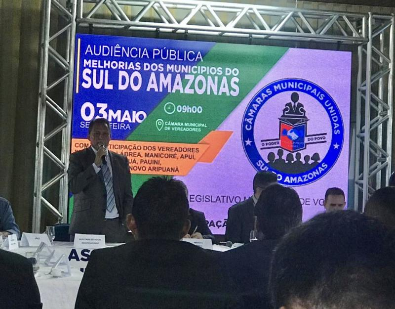 Em Humaitá, Adjuto Afonso defende trafegabilidade das rodovias do Amazonas