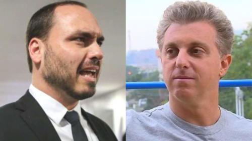 Filho de Bolsonaro sai em defesa do pai e parte para cima de Luciano Huck