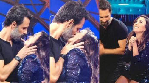 Rodrigo Santoro dá beijão em Tatá Werneck e provoca: 'Foi técnico? Fica a dúvida'