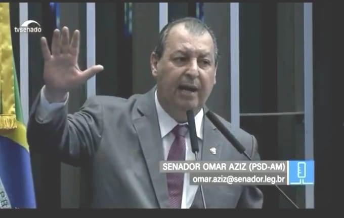 Omar Aziz volta a pedir no Congresso segurança nas fronteiras do Amazonas