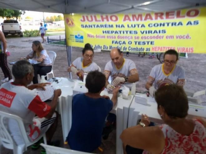 Santarém abre nesta sexta (5) campanha 'Julho Amarelo' de combate às hepatites virais
