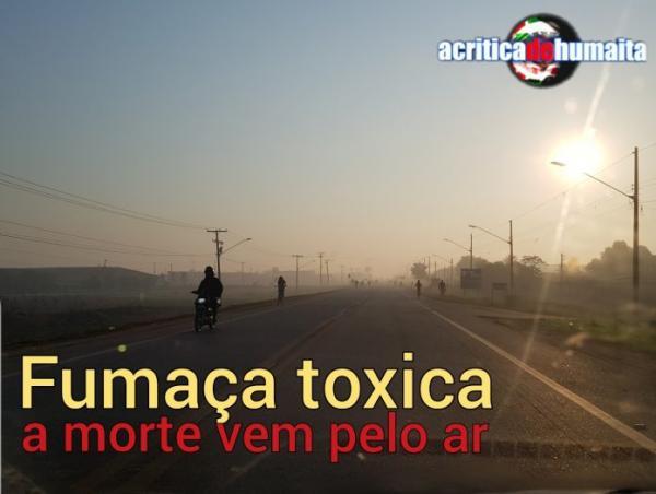 Fumaça tóxica do lixão invade Humaitá (AM)