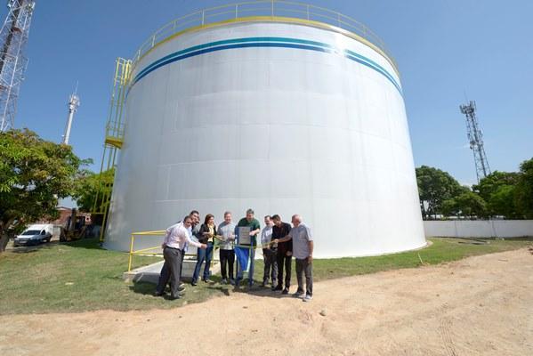 Reservatório de água beneficia 200 mil moradores das zonas Norte e Centro-Oeste