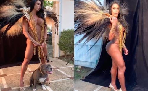 Seminua, Gracyanne Barbosa é comparada a mutante e rebate internauta