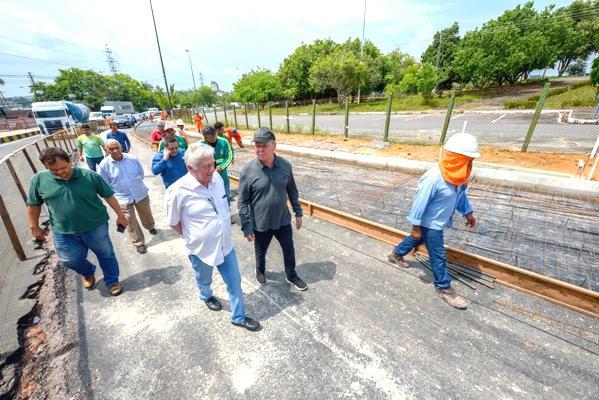Bola da Suframa, em Manaus, recebe pavimentação em concreto