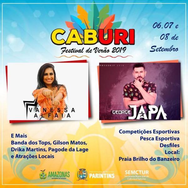 George Japa e Vanessa Alfaia agitam no Festival de Verão do Caburi