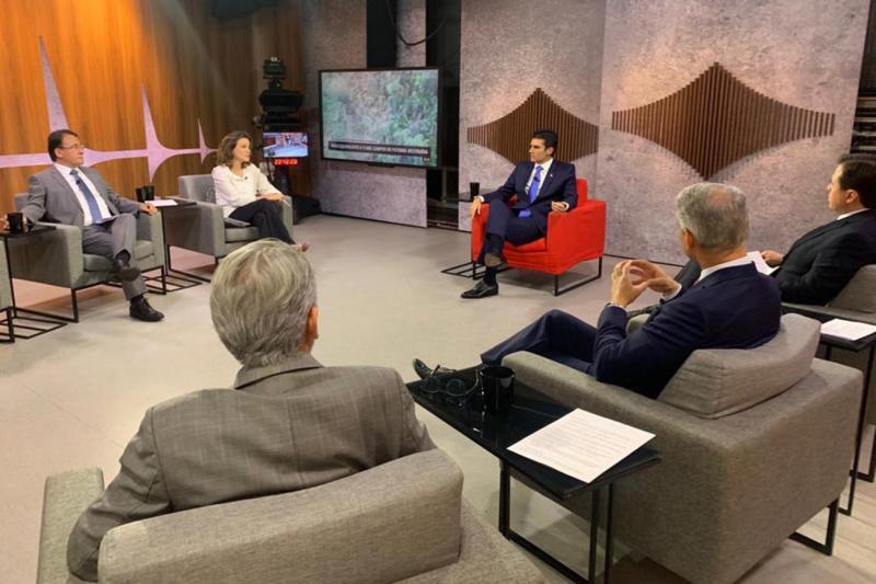 Helder debate sobre desmatamento e propostas de Bolsonaro, em entrevista a Globo News