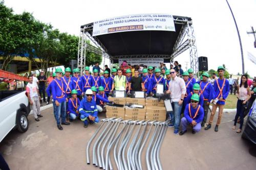 Maués inova e será o primeiro município do AM com iluminação 100% LED, diz prefeito