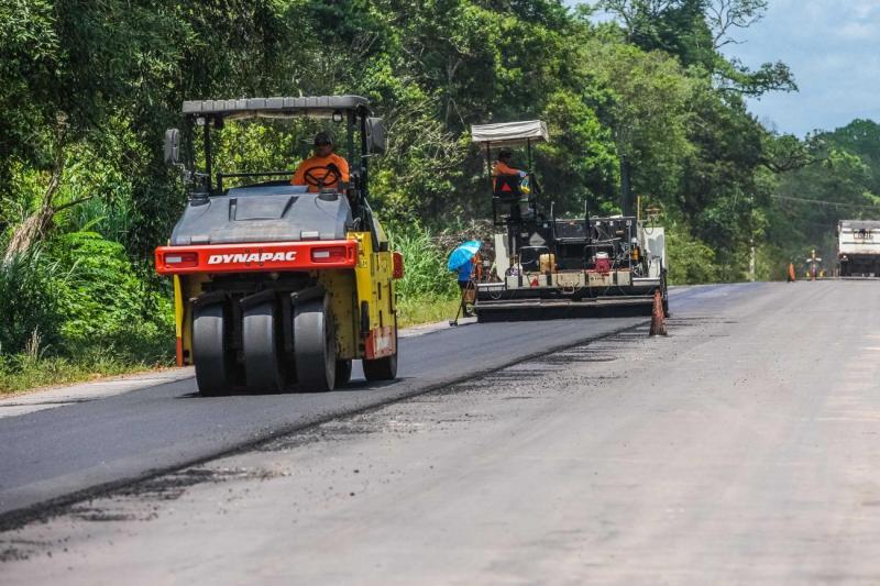 Obras de asfaltamento da PA-252 devem ser concluídas até final do ano