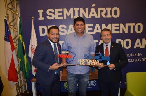 Parintins é premiada no seminário de saneamento sustentável da Amazônia