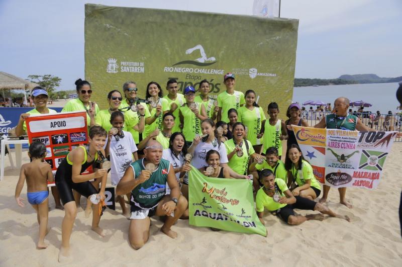 Em Alter do Chão, mais de 100 atletas disputam o Rio Negro Challenge