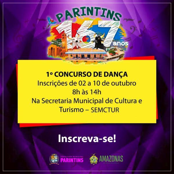 Aniversário de Parintins: Prefeitura abre inscrições para concurso de dança