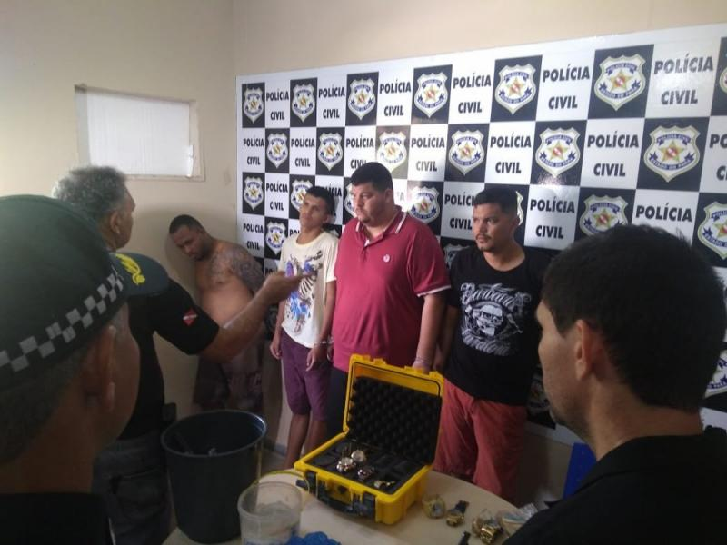 Operação da PC e PM prende suspeitos de assaltar casa lotérica de Santarém