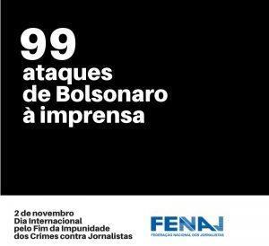 Jornalistas são alvo de Bolsonaro ao menos duas vezes por semana