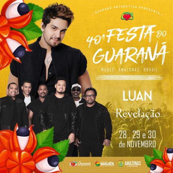 Luan Santana e Revelação cantam na Festa do Guaraná de Maués 2019