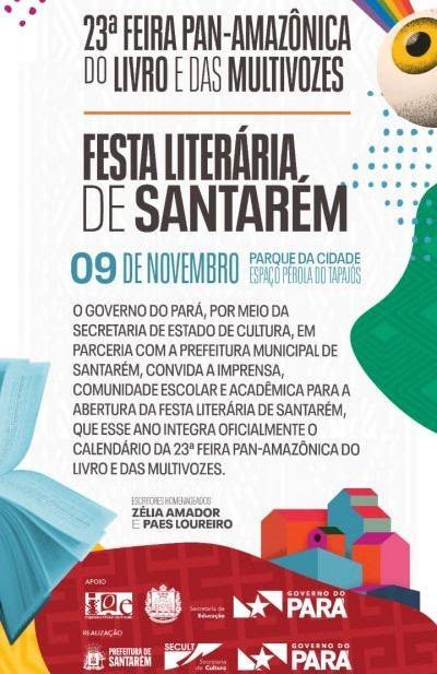 Festa Literária começa neste sábado (09), em Santarém