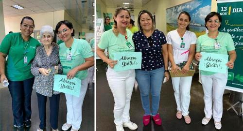 Unimed Manaus comemora Dia Mundial da Gentileza 'mimando' pacientes e colaboradores
