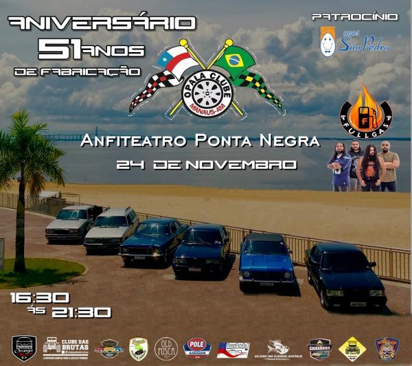 Para festejar 51 anos do Opala, Clube realiza exposição em Manaus