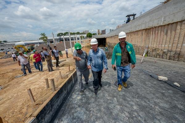 Anel viário da Constantino Nery, em Manaus, entra em nova fase de construção
