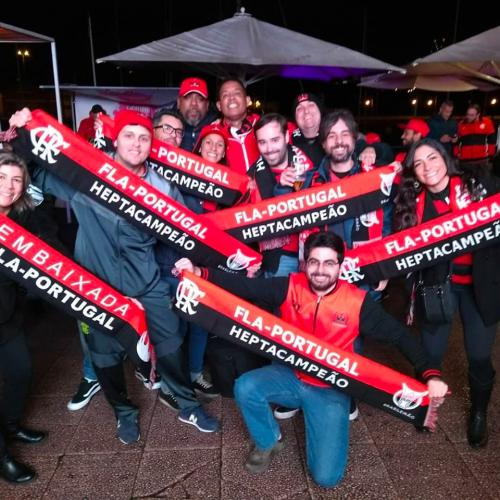 Em Portugal, Flamenguistas se organizam para assistir a final da Libertadores