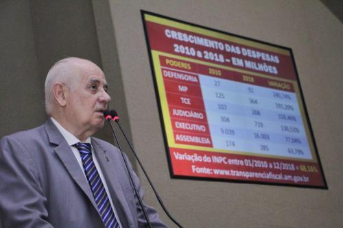 Despesas de órgãos do AM atinge aumento de 240% em 2018, diz Serafim