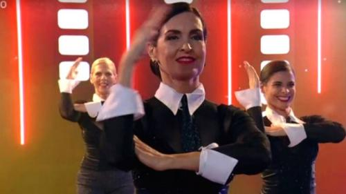 [Fátima Bernardes faz apresentação de dança ao som de Madonna]