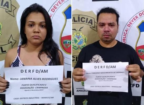 Dupla é presa por desviar R$ 100 mil em matéria-prima de multinacional em Manaus