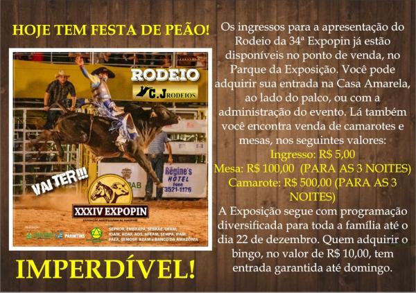 Com apoio do Governo e Prefeitura de Parintins, Expopin cobra ingresso de Rodeio