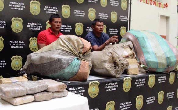 Dupla é presa com carga de droga avaliada em R$ 1,5 milhão, na Manaus Moderna