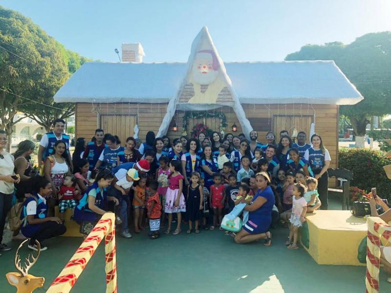 Quase 20 mil pessoas visitam a casinha do Papai Noel, em Santarém (PA)