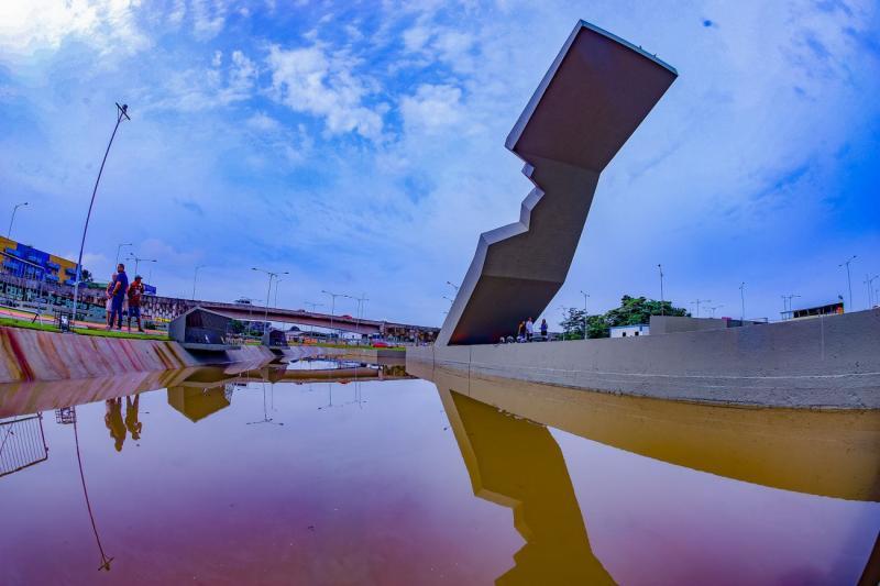 Monumento da Cabanagem, de Niemeyer, é reinaugurado, em Belém