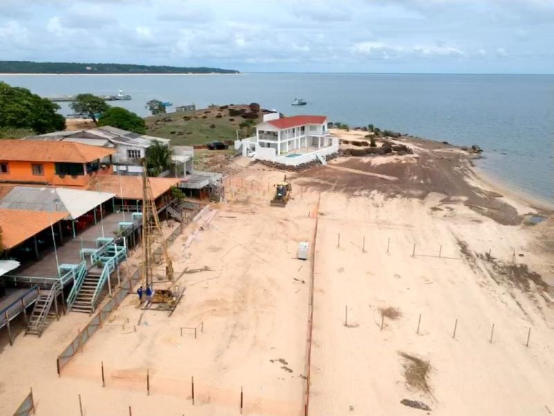 Praia do Maracanã vai ganhar píer com vista para o Rio Tapajós, diz Nélio Aguiar