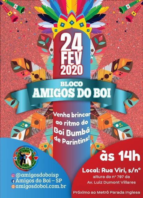 Bloco Amigos do Boi de Parintins vai participar do Carnaval de rua de São Paulo
