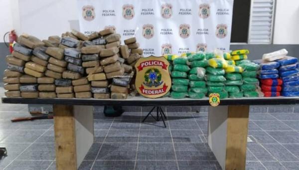PF apreende mais de 400 kg de droga em comunidade de Benjamin Constant (AM)