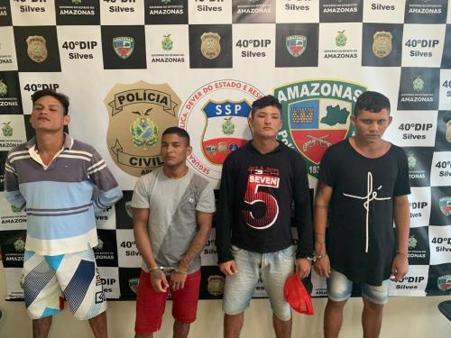 Polícia recaptura quatro foragidos da Justiça, em Silves (AM)