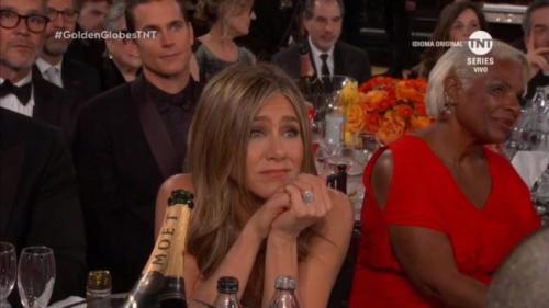 Reação de Jennifer Aniston com discurso de Brad Pitt viraliza