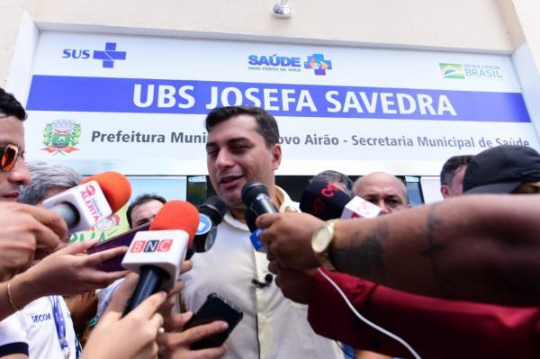 Wilson Lima inaugura, em Novo Airão, UBS concluída com recursos do FTI