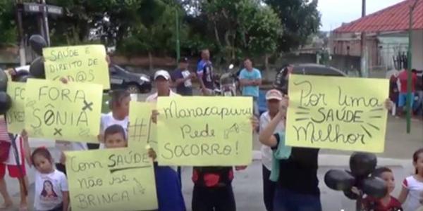 Após morte de gestante, população de Manacapuru protesta contra caos na saúde