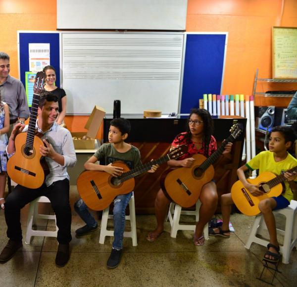 Secretaria de Cultura e Economia Criativa inaugura unidade do Liceu Claudio Santoro no município de Envira