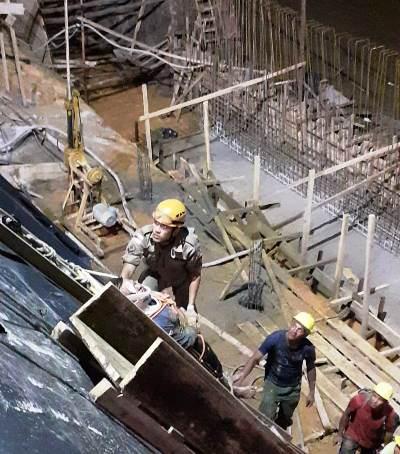 Operário fica parcialmente soterrado em acidente na obra do muro de arrimo de Parintins