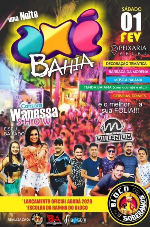 Manicoré realiza neste sábado (1º) 'Uma Noite Axé Bahia'