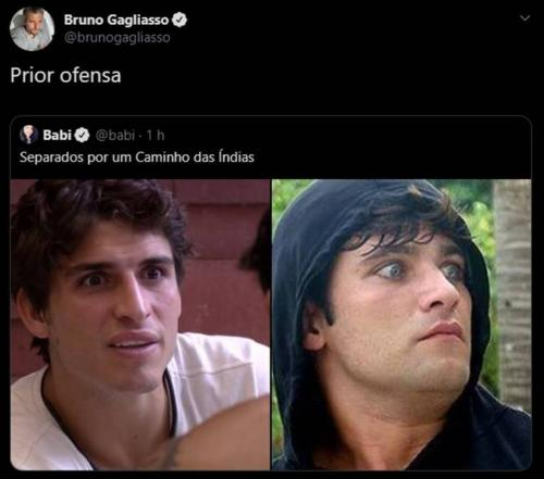 Comparado a Felipe do BBB 20, Bruno Gagliasso dispara: 'Prior ofensa'