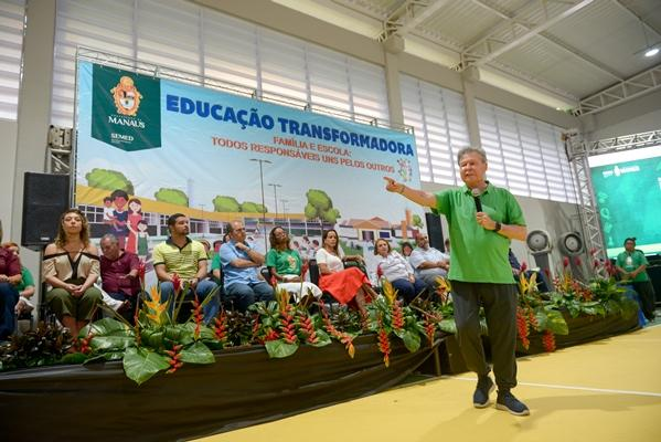 Prefeito de Manaus inaugura primeiro Centro Integrado para a educação transformadora